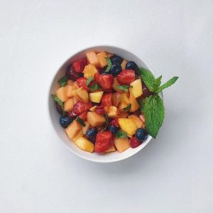 Peach-mint-salad